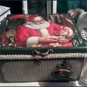 Mikulás teázik - karácsonyi nosztalgia doboz, Baba-mama-gyerek, Dekoráció, Karácsonyi, adventi apróságok, Otthon, lakberendezés, Ünnepi dekoráció, Karácsonyi dekoráció, A doboz alapanyaga fa, tartóssága érdekében több soron lakkozott. Mérete: 16 cm. x 14 cm. x 8 cm.  F..., Meska