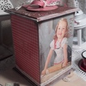 karácsonyi sütés - nosztalgia doboz, Konyhafelszerelés, Dekoráció, Karácsonyi, adventi apróságok, Otthon, lakberendezés, Ünnepi dekoráció, Tárolóeszköz, A doboz alapanyaga fa, tartóssága érdekében több soron lakkozott. Mérete: 21 cm. x 10 cm. x 10 cm...., Meska