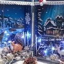 különleges világítós karácsonyi könyvdoboz , Dekoráció, Karácsonyi, adventi apróságok, Ünnepi dekoráció, Karácsonyi dekoráció, Nagy szeretettel készítettem, ezt a különleges , világítós könyvdobozt, melynek világítását 10 db.-o..., Meska