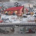 őzike a tisztáson - karácsonyi nosztalgia doboz