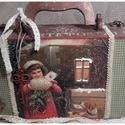 levél a Jézuskának - karácsonyi nosztalgia bőrönd, Baba-mama-gyerek, Dekoráció, Karácsonyi, adventi apróságok, Otthon, lakberendezés, Ünnepi dekoráció, Tárolóeszköz, Alapanyaga: fa, Mérete: 40 cm. x 17 cm. x 10 cm., Meska