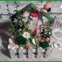 baromfi udvar - tavaszi asztaldísz, Dekoráció, Otthon, lakberendezés, Ünnepi dekoráció, Asztaldísz, Alapanyaga fa, mérete 8 x 16,5 x 20,5 cm.  Igazi kis meseudvar, mely szép dísze lehet lakásodnak...., Meska