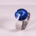 Sapphire 12mm - nemesacél gyűrű, Kézzel készült állítható nemesacél gyűrű,...