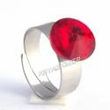 Light Siam 12mm - nemesacél gyűrű, Kézzel készült állítható nemesacél gyűrű ...