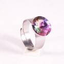 Vitrail Light 12mm - nemesacél gyűrű, Kézzel készült állítható nemesacél gyűrű ...