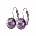Black Diamond 12mm - francia kapcsos nemescél fülbevaló, Kézzel készült francia kapcsos nemesacél fülb...