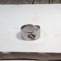 Nemesacél gravírozott gyűrű, Ékszer, Férfiaknak, Gyűrű, Ékszer, kiegészítő, Nemesacél, állítható, gravírozott gyűrű., Meska