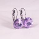 Violet 12mm - franciakapcsos nemescél fülbevaló, Franciakapcsos nemesacél fülbevaló 12mm-es Viol...