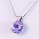 Violet 12mm - nemesacél medál, Kézzel készült medál, Violet színű Swarovski...
