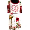 Nyulas virágoskert ruha, Ruha, divat, cipő, Női ruha, Rendelhető minden méretben! Az elkészítési idő kb. 2 hét. Mintás pamut-viszkóz-lycra alapanyagú ragl..., Meska