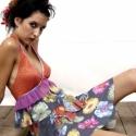 Virágos fodros ruha, Ruha, divat, cipő, Női ruha, Strech muszlin ruha,nyakba akasztós mellrésszel, sok-sok fodorral, szívárvány színű szegővel..., Meska