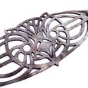 kar't deco bagoly karkötő, Ékszer, Karkötő, kar't deco design by Marosi Kriszta. Art deco által inspirált antikolt ezüst lézervágott bőr karkötő..., Meska