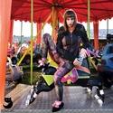'A mélység titkai' printelt leggings, Ruha, divat, cipő, Női ruha, Estélyi ruha, Ruha, A leggings alapanyaga digitális printelt polyamid,  Mérete: S-M, Meska