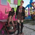 Mexikói zsebes felső, Ruha, divat, cipő, Női ruha, Ruha, Mintás pamut alapon mexikói lány digitális print, körbe flittercsík fut. Nyakán, a mellkasnál és az ..., Meska