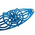 kar't deco bagoly karkötő, Art deco által inspirált metálkék lézervágot...