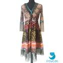 'Oriental dream' ruha, Orientális mintájú pamut-viszkóz-lycra felsőr...