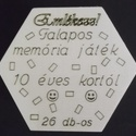 Memória játék, 26 darabos , Játék, Fajáték, Társasjáték, Logikai játék, Teljesen fából, pirografiával készült memória játék. 26 darabos egyenként 3cm x 4,5cm x 4mm..., Meska