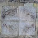 ecoprint technikával készített papír, Esküvő, Képzőművészet, Naptár, képeslap, album, Meghívó, ültetőkártya, köszönőajándék, A papír mintázatát ecoprint technikával készítettem. Az ecoprint, vagyis a növényekkel való..., Meska