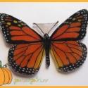 pillangós nyaklánc (pumpkin) - Meska.hu