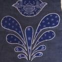 kékfestő rátétes táska - rendelhető (pumpkin) - Meska.hu