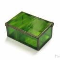 Zöld tiffany doboz - kicsi LEFOGLALVA (PunkyJazz) - Meska.hu