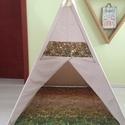 Teepee Earth, Baba-mama-gyerek, Dekoráció, 120 cm magas, oldalai 105 cm. , Meska