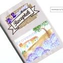 Vintage LEVENDULÁS receptfüzet , Vintage, levendulás, pöttyös borítóval ellát...