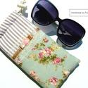 VINTAGE RÓZSÁS szemüvegtok, Romantikus rózsás, csipkés szemüvegtok. 10cm*1...