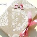 VINTAGE SZÍVES napló, receptfüzet, jegyzetfüzet..., Romantikus, masnis napló, receptfüzet, emlékkö...