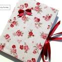 VINTAGE RÓZSÁS napló, emlékkönyv, jegyzetfüzet..., Romantikus, rózsás napló, emlékkönyv, jegyzet...