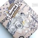 VINTAGE PARIS receptes mappa A5-ös, Konyhafelszerelés, Naptár, képeslap, album, Receptfüzet, Jegyzetfüzet, napló, Ez a mintás borítóval ellátott gyűrűs mappa recepteknek készült, átlátszó zsebes fóliák vagy kinyomt..., Meska
