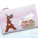 VINTAGE Párizs neszi, tolltartó, Táska, Neszesszer, Pénztárca, tok, tárca, Vintage, romantikus neszi, tolltartó, cipzáras tároló...használd amire szeretnéd :O) Finom, púder ró..., Meska