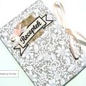 VINTAGE csipkés receptfüzet, Vintage, romantikus borítóval ellátott kemény ...