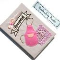 VINTAGE KÖTÉNYES receptfüzet, Konyhafelszerelés, Receptfüzet, Vintage, kötényes borítóval ellátott kemény fedeles receptfüzet, A5-ös méretű, 80 lapos, választható..., Meska