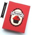MUFFINOS  receptes mappa A5-ös, Konyhafelszerelés, Naptár, képeslap, album, Receptfüzet, Jegyzetfüzet, napló, Ez a muffinos  borítóval ellátott gyűrűs mappa recepteknek készült, átlátszó zsebes fóliák vagy kiny..., Meska