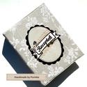 Vintage Csipkemintás receptes mappa A5-ös, Konyhafelszerelés, Naptár, képeslap, album, Receptfüzet, Jegyzetfüzet, napló, Ez a romantikus  borítóval ellátott gyűrűs mappa recepteknek készült, átlátszó zsebes fóliák vagy ki..., Meska