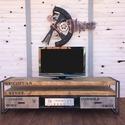 NODIN TV állvány, Bútor, Dekoráció, Otthon, lakberendezés, Polc, Indusztriális TV állvány  Szélesség 180 cm, magasság 50 cm, mélység 45 cm  Méret és szín ..., Meska
