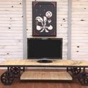 WYOME TV állvány RENDELHETŐ, Bútor, Dekoráció, Otthon, lakberendezés, Polc, Indusztriális TV konzol  Méret:190x50x40  Méret és szín igény szerint változtatható, Meska