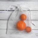 Tüllből készült zsák -vásárolj hulladékmentesen! - 3 db-os szett, Táska, Könnyű, átlátszó zsák, ami tökéletesen kiváltja a műanyag zacskó használatát az olyan t..., Meska
