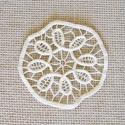 Kerek csipke terítő, Dekoráció, Otthon, lakberendezés, Dísz, Lakástextil, Csipkekészítés, 11.5 cm-es kicsi kerek terítő. Bézs színű., Meska