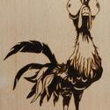 Kakas, vágódeszka - Pirográf technikával, Dekoráció, Képzőművészet, Otthon, lakberendezés, Kép, Famegmunkálás, Gravírozás, pirográfia, 26,5 x 11,5 cm-es bükk vágódeszka, 1,5 cm vastag, kézzel készült pirográf technikával. (faégetés), Meska
