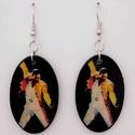 Fülbevaló - Freddie Mercury, Ékszer, Fülbevaló, Medál, Transzfer technikával készült fa fülbevaló - ütésálló lakkal kezelve., Meska