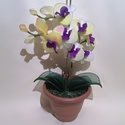 Pyxis 21, Otthon & Lakás, Dekoráció, Csokor & Virágdísz, Virágkötés, Pyxis 21   2 ágú Orhidea harisnyavirág eladó! Lila és citromsárga színeivel figyelemfelkeltő lehet ..., Meska