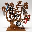 Bagoly ékszertartó fa , Ékszer, Ékszertartó, Famegmunkálás, Ékszereid dekoratív tárolására alkalmas, mely egyben lakásod dísze is. Minősége kiváló bükk fából, ..., Meska