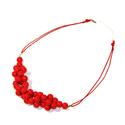 Piros gyöngy nyaklánc, Ékszer, óra, Nyaklánc, Ékszerkészítés, Piros gyöngy nyaklánc  Fényes piros műanyag TEKLA gyöngyből, különleges fűzési technikával (DNS spi..., Meska