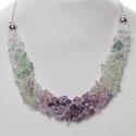 Prizma Fluorit nyaklánc, Ékszer, Nyaklánc, Különleges színátmenetes nyaklánc, mely különböző méretű és típusú gyöngyökből áll..., Meska