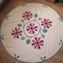 asztal teritő, Otthon, lakberendezés, Lakástextil, Terítő, Varrás, Patchwork mintával (drezdai tányér)készitettem ezt a saját tervezésű, kör alakú asztal terítőt.  A ..., Meska