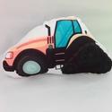 Lánctalpas traktor, Dekoráció, Baba-mama-gyerek, Játék, Gyerekszoba, Lánctalpas Traktor formapárna Mérete 20x20cm Anyaga polár  Mosható 30 fokon, színét és állagát megőr..., Meska