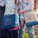 Gyerek táska unikornis/mosómacis gépi hímzéssel, Táska, Divat & Szépség, Táska, Válltáska, oldaltáska, Varrás, Aranyos válltáska kislányoknak, unikornisos vagy mosómacis gépi hímzéssel az elején. Pamutvászonnal..., Meska