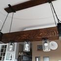 Gerenda lámpa , Otthon, lakberendezés, Lámpa, Fali-, mennyezeti lámpa, Famegmunkálás, Kedves Érdeklődő!  Eladó a képen látható egyedi készítésű gerenda lámpa! 120 cm hosszú! Kérésre más..., Meska